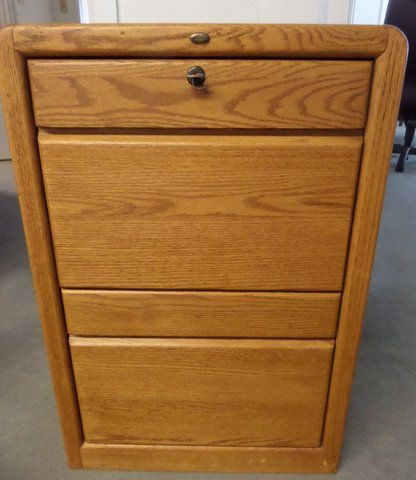 ENCORE OAK TWO DRAWER FILE CABINET U0026 PRINTER DESK ...