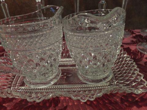 Cut Glass Long Stemmed Glasses