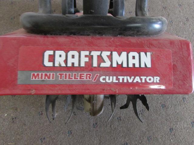 Craftsman Tiller Plow : Lot detail craftsman mini tiller cultivator