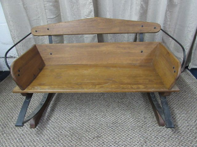 Surprising Lot Detail Antique Buckboard Buggy Seat Bench Inzonedesignstudio Interior Chair Design Inzonedesignstudiocom
