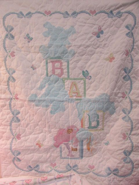 Lot Detail Partially Finished Hand Embroidered Baby Quilts