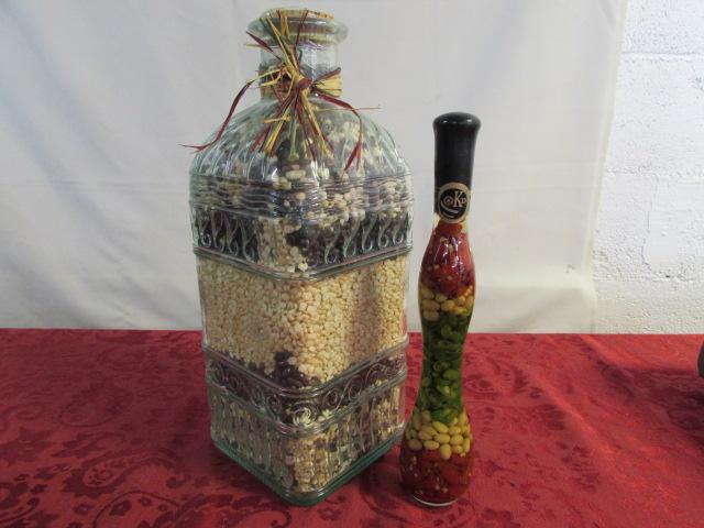 Lot Detail LOVELY KITCHEN DÉCOR LARGE JAR OF DECORATIVE BEANS 40 Classy Decorative Jars For Kitchen