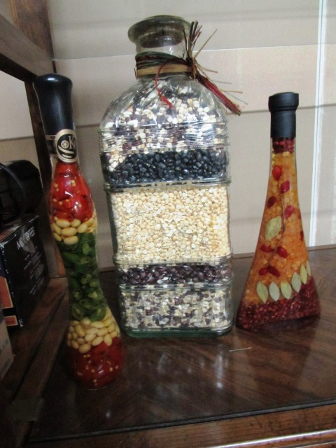 Lot Detail LOVELY KITCHEN DÉCOR LARGE JAR OF DECORATIVE BEANS 40 Awesome Decorative Jars For Kitchen