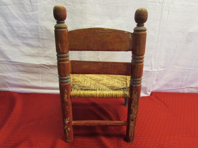 Lot Detail Rustic Vintage Mexican Folk Art Child S Chair