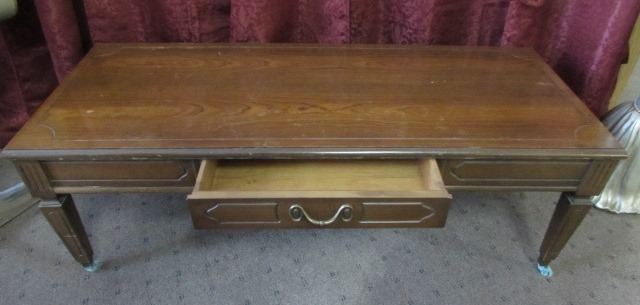 All Wood Coffee Tables ~ Lot detail all wood coffee table
