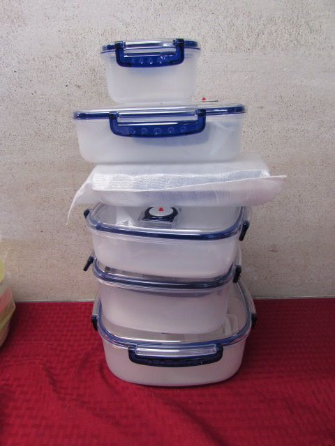 ... LOADS OF NEW KITCHEN VACUUM STORAGE CONTAINERS SPICE CAROUSEL MICROWAVE SET u0026 More & Lot Detail - LOADS OF NEW KITCHEN VACUUM STORAGE CONTAINERS SPICE ...