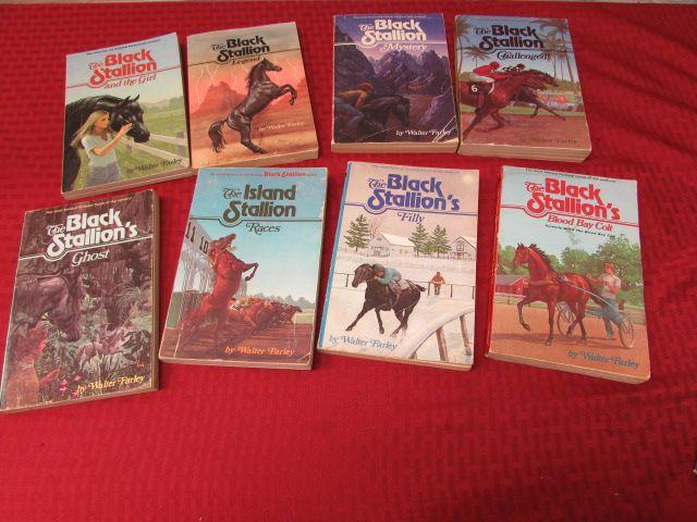 Black Stallion Book Cover ~ Lot detail set of soft cover black stallion books by