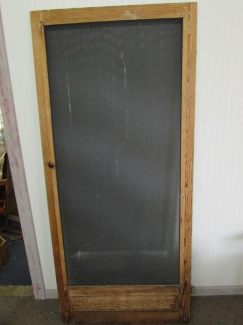 Vintage 36 X 80 Wood Screen Door