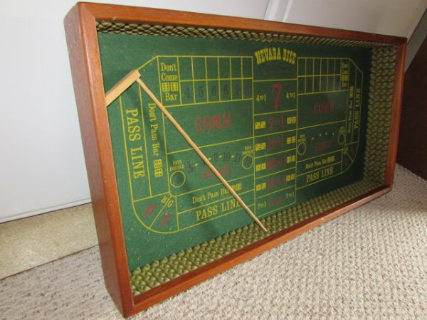 Lot detail be a high roller at home vintage table top for 12 craps table