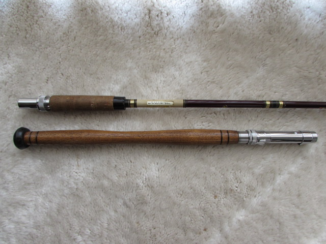 lot detail vintage garcia conolon fishing rod