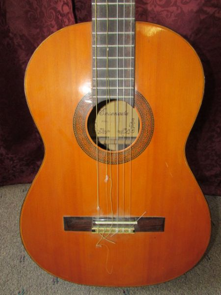 lot detail beautiful ensenada model cg108 acoustic guitar with case. Black Bedroom Furniture Sets. Home Design Ideas