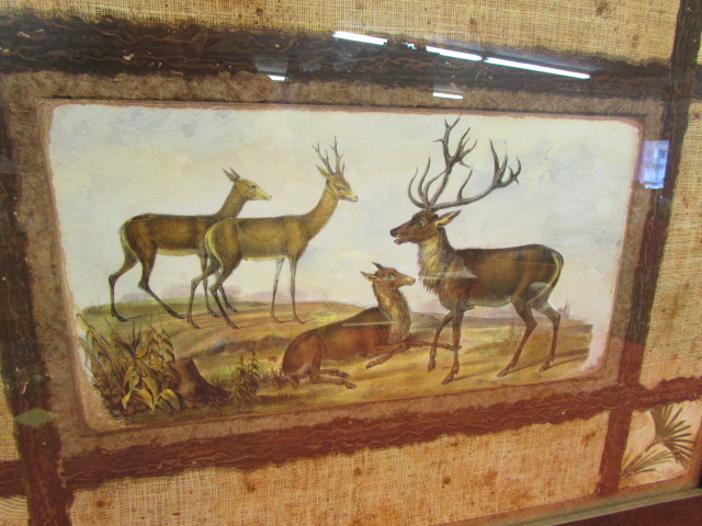 lot detail hunting lodge d cor large framed wall art