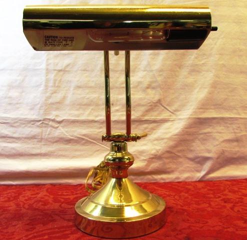 Lot Detail Brass Piano Lamp Onyx Pen Holder Amp Organizer