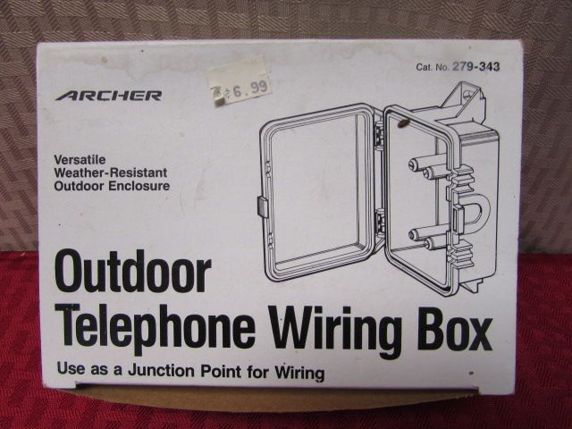 lot detail ring up your spouse outdoor telephone bell wiring box rh anyandallauctions com