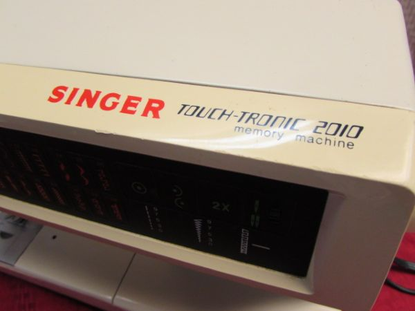 singer touch tronic 2010 memory machine