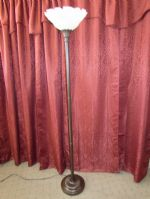BEAUTIFUL FLOOR LAMP WITH ROSE EMBELLISHED SHADE