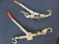 TWO COME ALONG HAND WINCH TOOLS