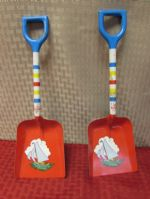 TWO 1940-1950S METAL CHILDS SAND SHOVELS