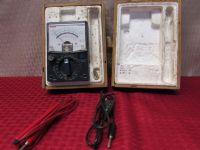 RCA VOLT METER WITH METAL CASE & IN ORIGINAL WOOD BOX