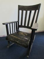 RUSTIC ANTIQUE ROCKING CHAIR