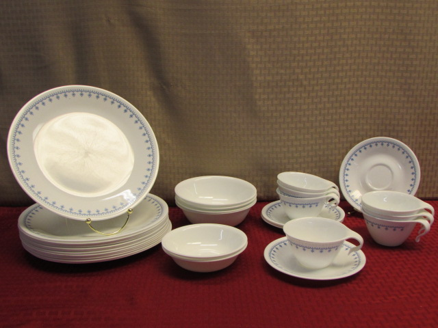 Lot Detail - CORELLE WARE BY CORNING DINNER PLATES SAUCERS, HOOK ...