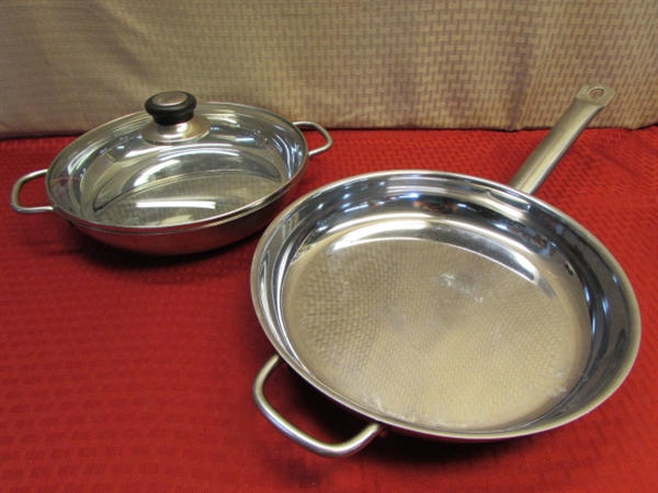 Lot Detail Get Cookin Pots Amp Pans Stainless Steel