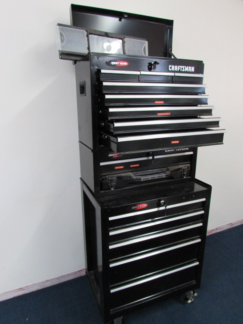 craftsman 3 section rolling tool box stack