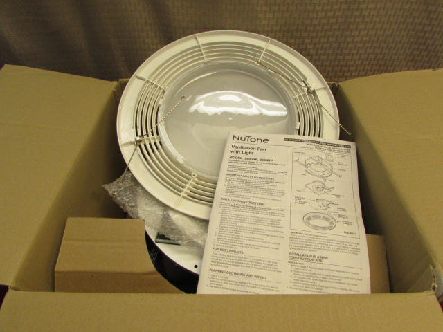 Lot Detail New In Box Nutone Ventilation Fan With Light Night Light