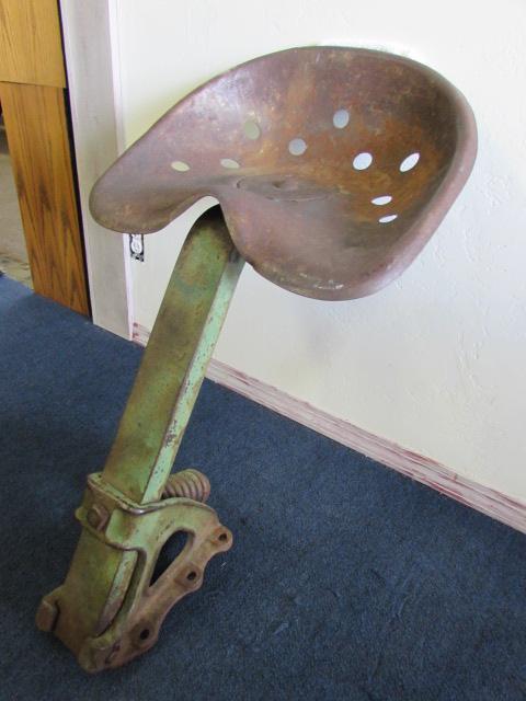 John Deere Metal Tractor Seat : Lot detail rustic yard art or restoration project