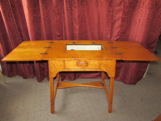 Lot Detail - GORGEOUS SCANDINAVIAN STYLE SOLID MAPLE SEWING ...