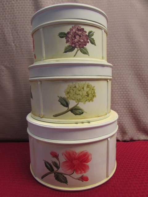Three Lovely Wooden Shabby Chic Storage Bo