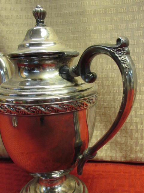 Lot detail elegant silver plate william rogers son spring elegant silver plate william rogers son spring flowers tea pot creamer sugar bowl mightylinksfo