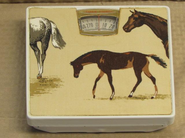 Lot Detail - HORSIN\' AROUND-PRETTY HORSE WALL CLOCK, SCALE & MINI ...