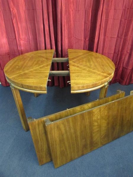 Lot detail vintage solid wood dining room nook table - All wood dining room table ...