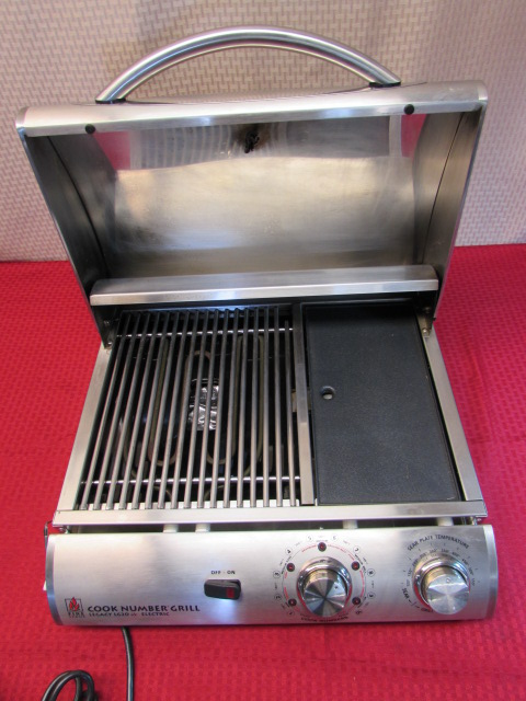 Legacy Electric Grill ~ Lot detail even in winter you can grill outdoors with