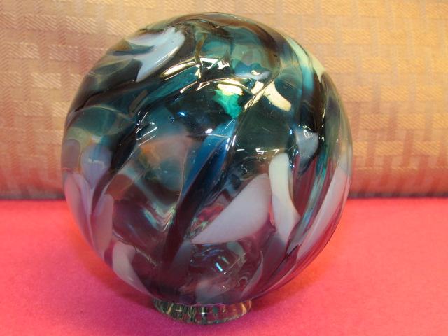 Lot detail gorgeous hand blown glass decorative ball