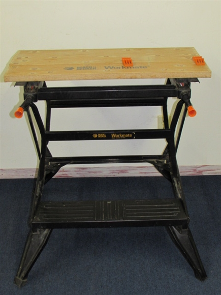 Lot Detail Black Decker Workmate Work Center Folding Bench Vise