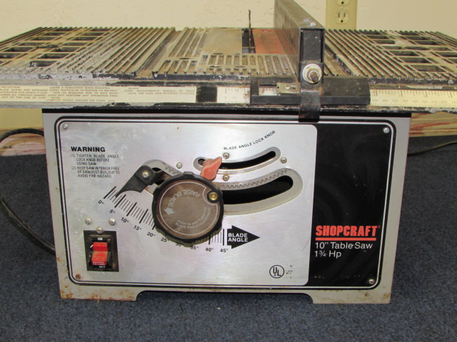 Craft 10 1 3 4 Hp Table Saw