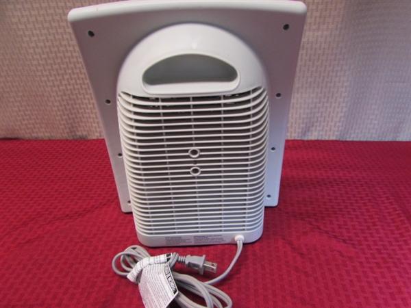 Hawaiian Breeze 16 Fan : Lot detail holmes ecosmart heater quot aloha breeze
