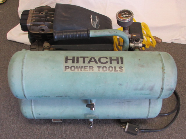 Lot Detail Hitachi Power Tools 2 Hp Twin Stack Air