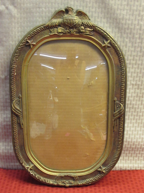 Lot Detail Antique Civil War Era Oval Frame W Eagle Stars Flags