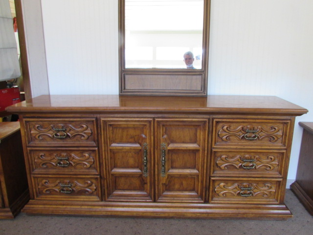 Large Drexel Dresser With Mirror