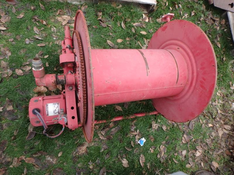 Lot detail hose reel w 100 39 fire hose for 12 volt hose reel motor