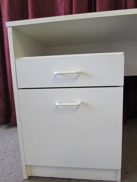 great little desk with 2 drawers on the side use in the office or the