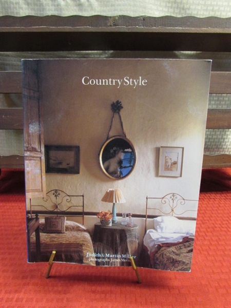 Lot Detail Large Wooden Shelf And Country Style Magazine