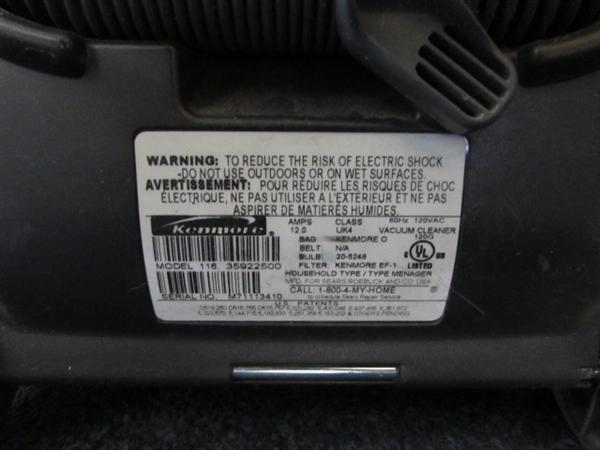 Lot Detail Kenmore Progressive Upright Vacuum Cleaner