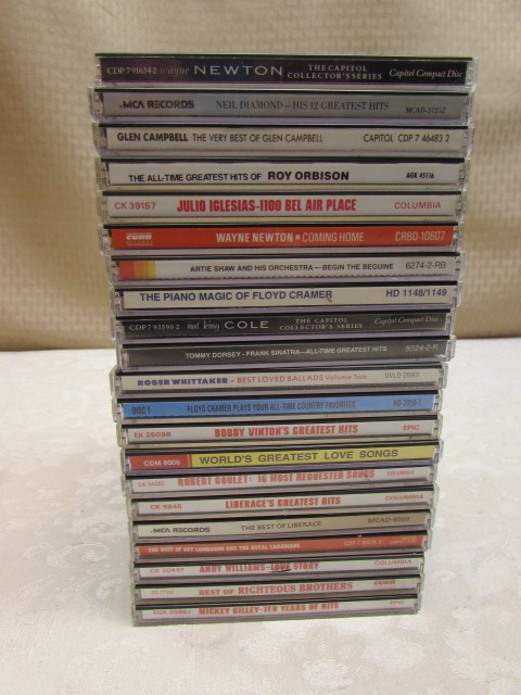 Lot Detail - 23 USED CDs OF VARIOUS GENRES & dISC/RECORD CLEANER