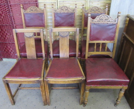 lot detail antique dining room chairs