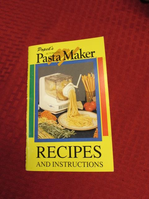 popeil pasta maker instructions