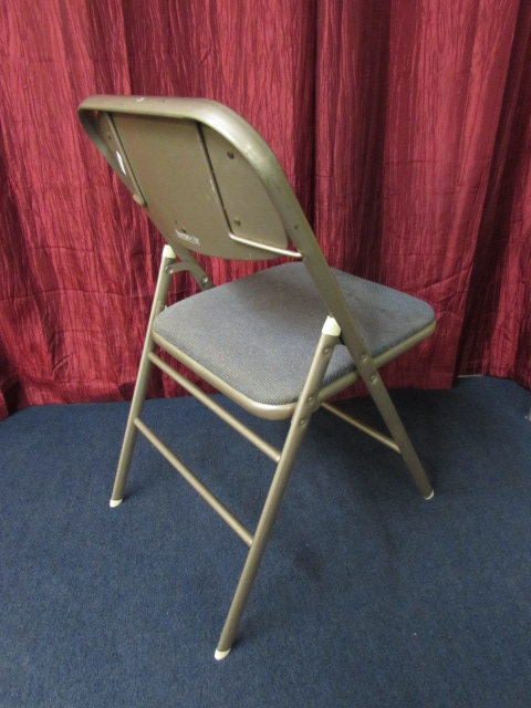 VINTAGE SAMSONITE METAL FOLDING CHAIR, VINTAGE SAMSONITE METAL FOLDING CHAIR  ...